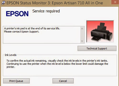 Epson Artisan 1430 Service Required