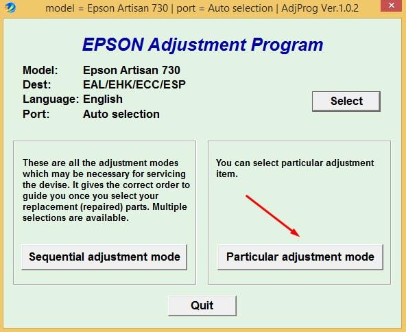 Epson Artisan-730 Adjustment