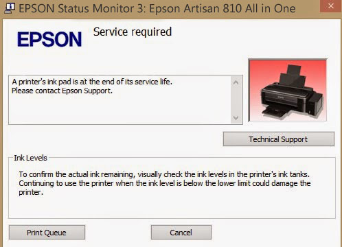 Epson Artisan 810 Service Required