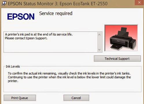 Epson ET-2550 Service Required