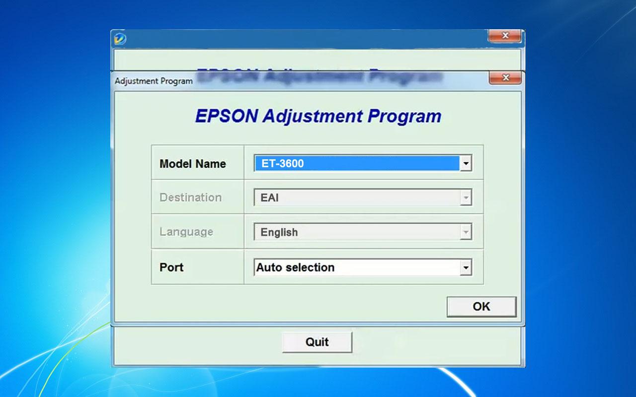 Epson ET-3600 Adjustment