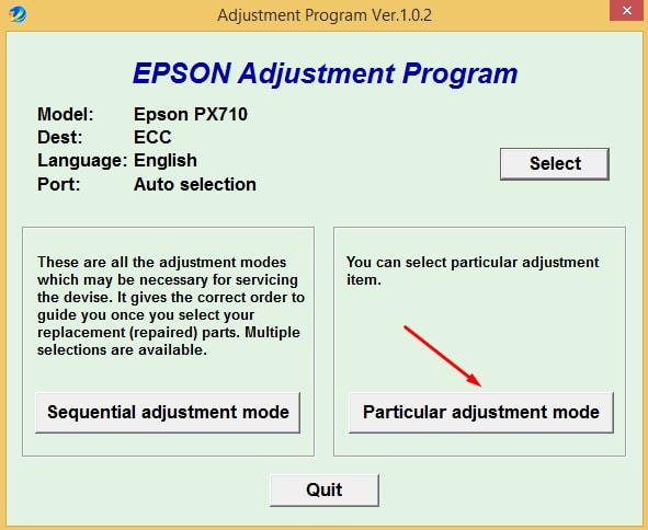 Epson PX-710 Adjustment