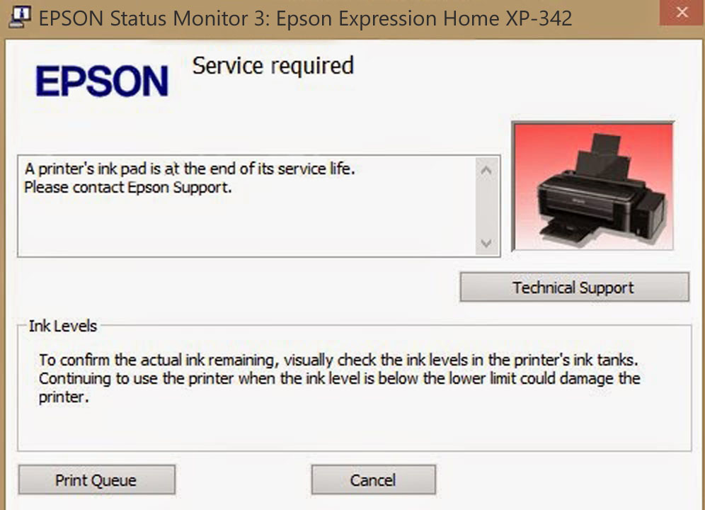 Epson XP-342 Service Required