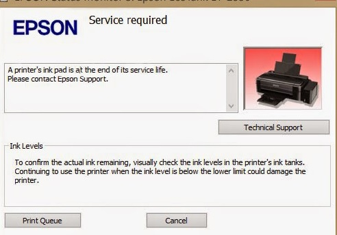 Epson L382/L386/L486 Service Required